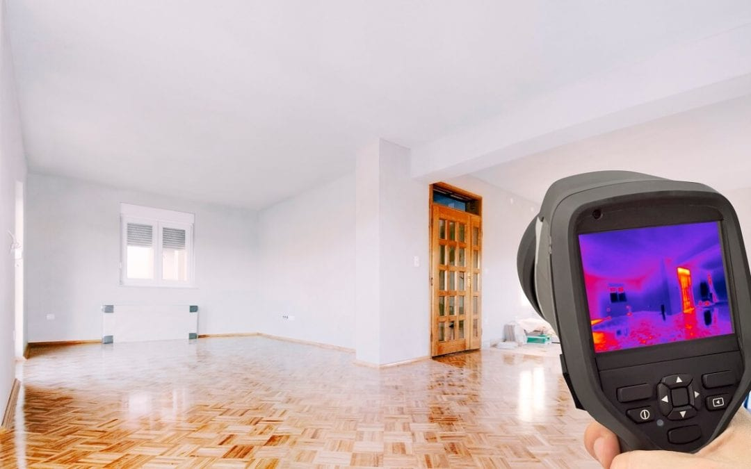 thermal imaging in home inspections detects heat signature around the house